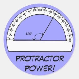 Protractor Power Classic Round Sticker