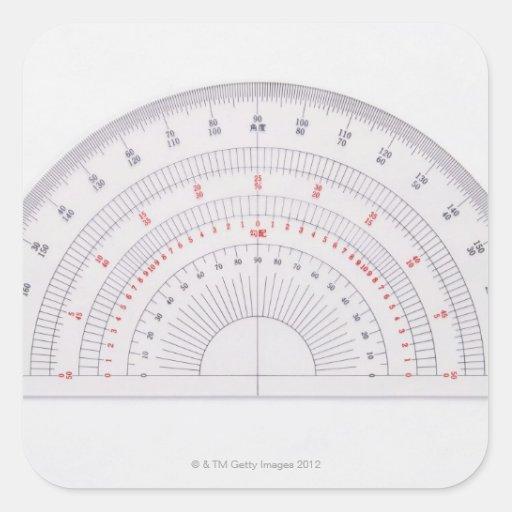 Protractor Square Sticker
