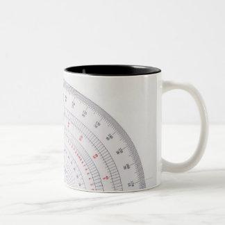 Protractor Two-Tone Coffee Mug