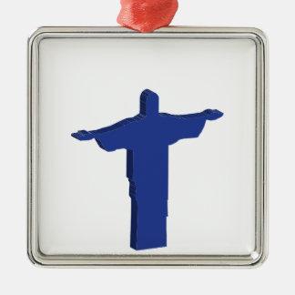 Protuberancia de Cristo Redentor Adorno Navideño Cuadrado De Metal