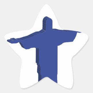 Protuberancia de Cristo Redentor Pegatina En Forma De Estrella
