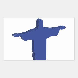 Protuberancia de Cristo Redentor Pegatina Rectangular
