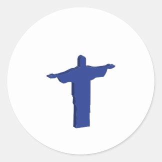 Protuberancia de Cristo Redentor Pegatina Redonda
