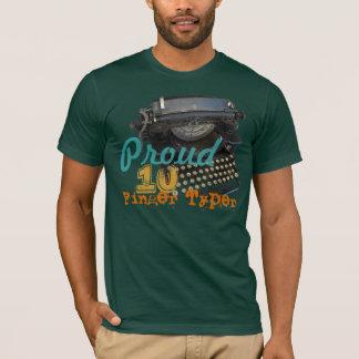 Proud 10 Finger Typer Vintage Typewriter T-Shirt