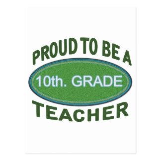 Proud 10th. Grade Teacher Postcard