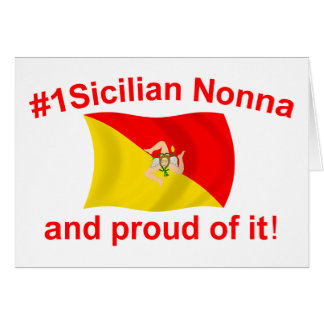 Proud #1 Sicilian Nonna Greeting Card
