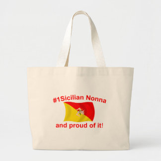 Proud #1 Sicilian Nonna Large Tote Bag