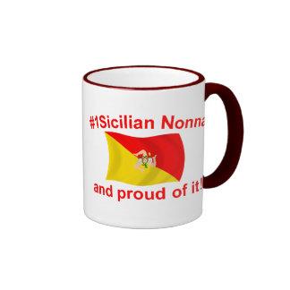 Proud #1 Sicilian Nonna Ringer Mug
