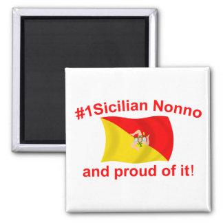 Proud #1 Sicilian Nonno 2 Inch Square Magnet