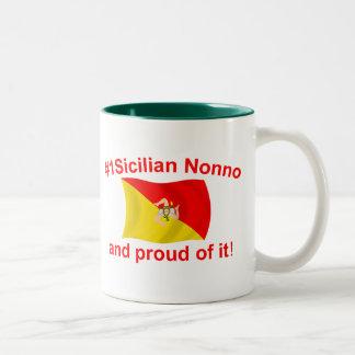 Proud #1 Sicilian Nonno Two-Tone Coffee Mug