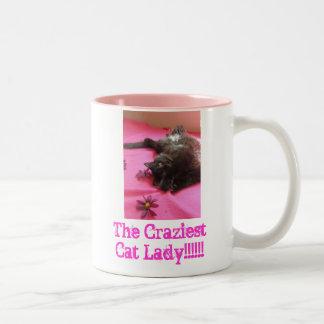 Proud 2 b Cat Lady Two-Tone Coffee Mug