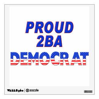 Proud 2BA Democrat Stars & Stripes Wall Sticker