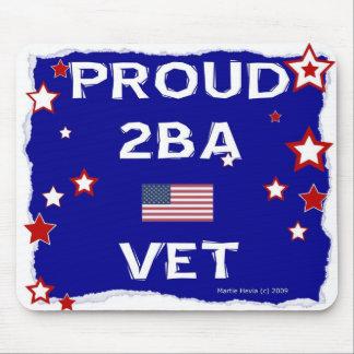 Proud 2BA Vet - In Honor - Mousepad