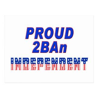 Proud 2BAn Independent Postcard