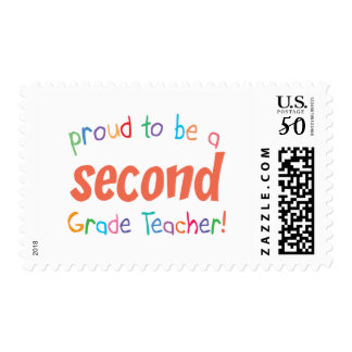 Proud 2nd Grade Teacher Postage