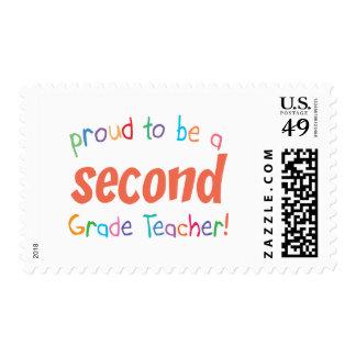 Proud 2nd Grade Teacher Stamps
