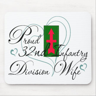 Proud 32nd Infantry Wife Heart Mouse Pad