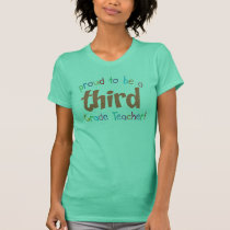 Proud 3rd Grade Teacher Ladies Petite T-Shirt