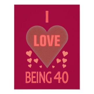 Proud 40th Birthday Party Invitations