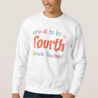 Proud 4th Grade Teacher Basic Sweatshirt