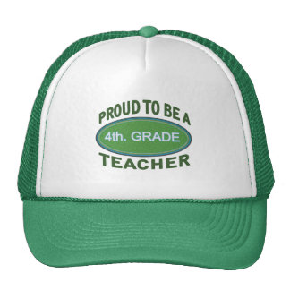 Proud 4th. Grade Teacher Mesh Hats