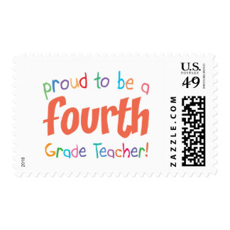 Proud 4th Grade Teacher Postage Stamp