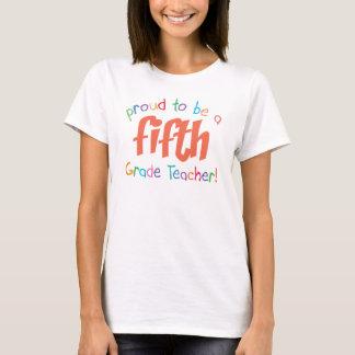 Proud 5th Grade Teacher Babydoll T-Shirt