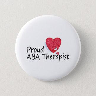 Proud ABA Therapist Pinback Button