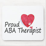 Proud ABA Therapists (Heart) Mouse Mats