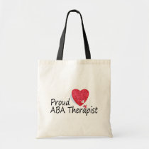 Proud ABA Therapists (Heart) Tote Bag