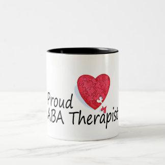 Proud ABA Therapists (Heart) Two-Tone Coffee Mug