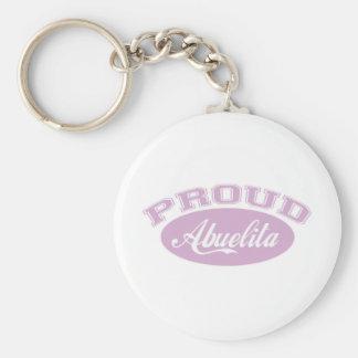 Proud Abuelita Basic Round Button Keychain