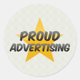 Proud Advertising Round Sticker