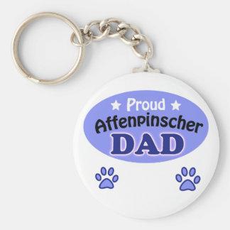 Proud Affenpinscher Dad Basic Round Button Keychain