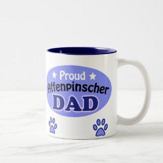Proud Affenpinscher Dad Two-Tone Coffee Mug