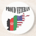 Proud Afganistán veterana Posavasos Manualidades