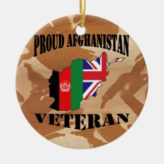Proud Afghanistan veteran ...... British Soldier Ceramic Ornament