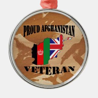 Proud Afghanistan veteran ...... British Soldier Metal Ornament