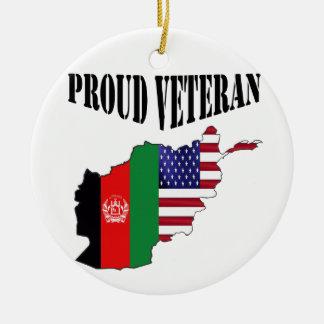 Proud Afghanistan veteran Ceramic Ornament