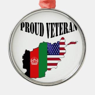 Proud Afghanistan veteran Metal Ornament