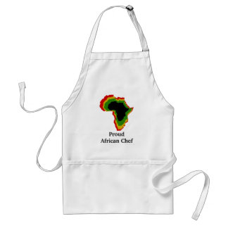 """Proud African Chef"" - Pan African Colors Adult Apron"
