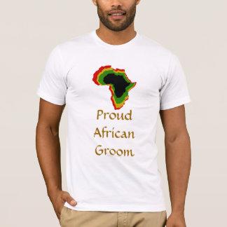 """Proud African Groom"" Pan African Colors [1] T-Shirt"