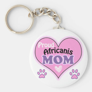 Proud Africanis Mom Basic Round Button Keychain