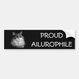 Proud Ailurophile ( Cat Lover) Maine Coon Bumper Sticker