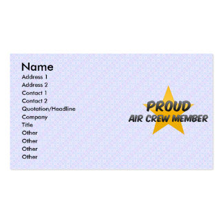 Proud Air Crew Member Double-Sided Standard Business Cards (Pack Of 100)