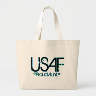 Proud Air Force Aunt Canvas Bag