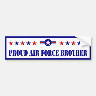 Proud Air Force Brother Bumper Sticker