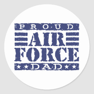 Proud Air force Dad Classic Round Sticker