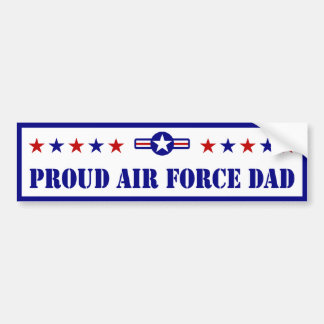 Proud Air Force Dad Stars Bumper Sticker
