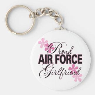Proud Air Force Girlfriend Keychain